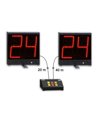 """Kit24/14""""composto di 2 indicatori dimensioni cm 30x30 con cifre altezza cm 20"""