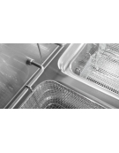 Friggitrice elettrica 2 vasche Lt 15+15 DIMENSIONI CM.60x70x90h