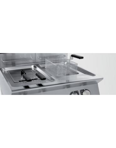 Friggitrice elettrica 2 vasche Lt 17+17 DIMENSIONI CM.80x70x90h