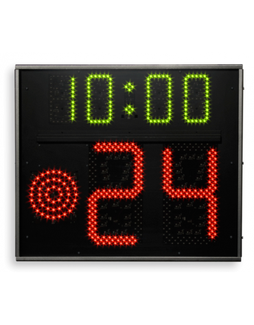 """Coppia indicatori 24/14"""" monofacciali FS-24S-1 con visualizzazione tempo di gioco, dimensioni cm 70x60"""