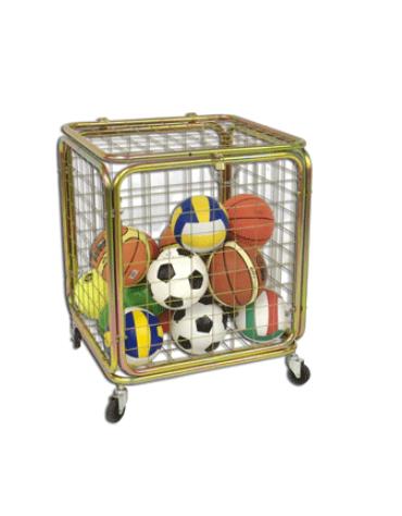Gabbia porta palloni con capienza circa 25/30 palloni. Dimensioni cm 70x70x90h