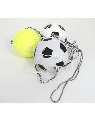 Rete in nylon con cordicella di chiusura e trasporto porta palloni