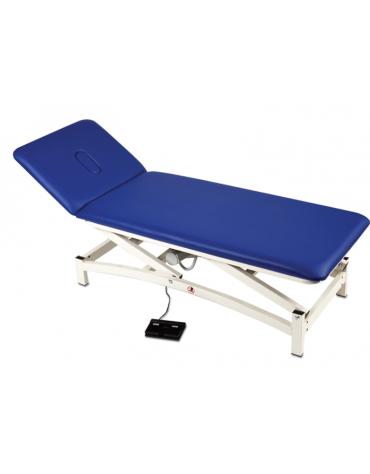 Lettino per massaggi a due segmenti imbottiti e rivestiti in similpelle, cm 190x65h
