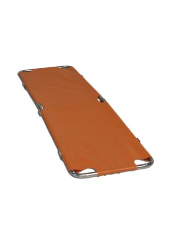 Portantina porta feriti pieghevole con struttura di acciaio cromato, dim. cm 185x30