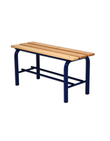 Panchina spogliatoio, in acciaio verniciato e listoni di legno, lunghezza mt 1