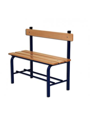 Panchina spogliatoio con schienale, in acciaio verniciato, lunghezza mt 1