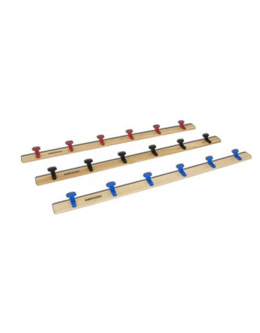 Tavola attaccapanni di legno da fissare a parete, lunghezza mt 2, 6 grucce