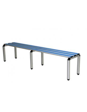 Panchina spogliatoio semplice, struttura di alluminio anodizzato, lunghezza mt 2