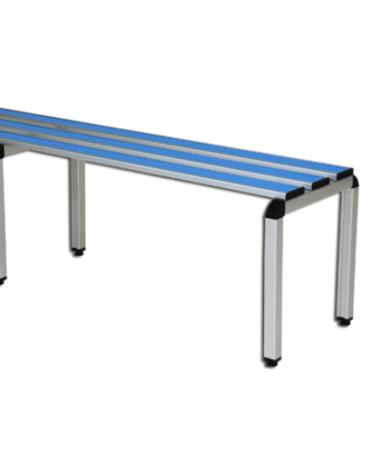 Panchina spogliatoio semplice, struttura di alluminio anodizzato, lunghezza mt 1