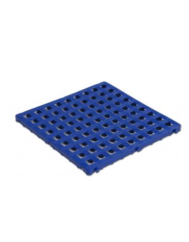 Modulo pedana poggiapiedi di plastica antiscivolo. Agganciabile sui 4 lati. Dimensioni cm 50x50.
