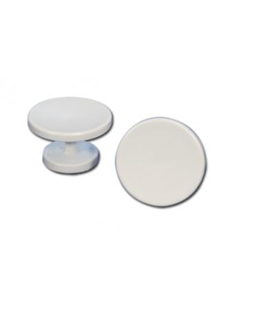 Appendiabiti singolo di plastica da fissare a parete. Completo di organi di fissaggio. Colore bianco.