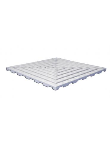 Graticcio di plastica antiscivolo per doccia, dimensioni cm 60x60