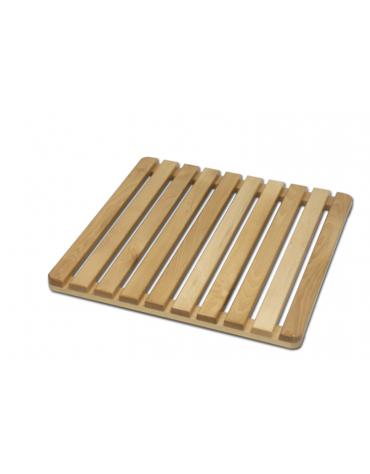 Graticcio di legno con piedini gommati per doccia , dimensioni cm 60x60