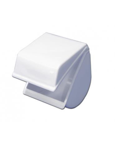 Porta rotolo carta igienica di plastica. Completo di organi di fissaggio per fissare a parete