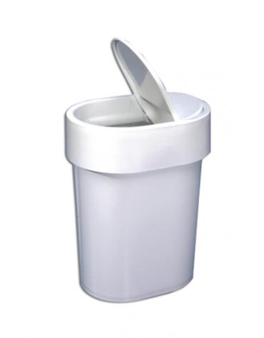 Cestino di plastica con coperchio basculante raccogli sacchetti igienici femminili