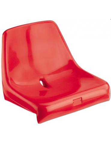 Scocca di seduta in polipropilene ignifugo colorato con schienale, fissaggio diretto al gradone