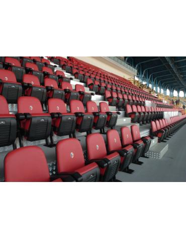 Poltrona VIP disponibile in vari modelli marchiati per gradinate di stadi e palazzi dello sport