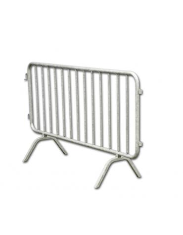 ransenna di acciaio zincato con piedi di appoggio a terra, dimensioni cm 200x100h
