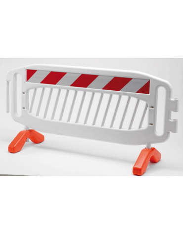 Transenna in plastica con piedi di appoggio a terra ruotabili, dimensioni cm 215x90h