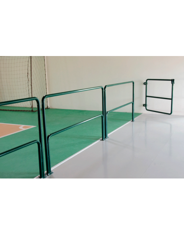 Transenna divisoria per palestre realizzata in acciaio verniciato, cm 200x100h