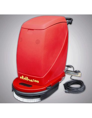 Macchina lavasciuga pavimenti manuale, funzionante con batteria ricaricabile
