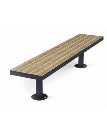 Panchina in acciaio inox e legno senza schienale - Lunghezza cm 180 ...