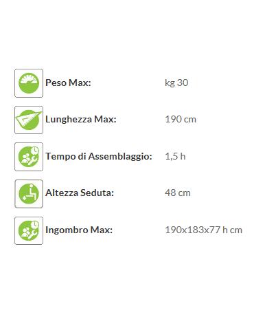 Tavolo Pic Nic con spalliera