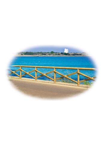 Recinzione Portofino - Dimensione singolo modulo: cm 200x20x100 h