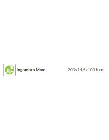 Recinzione Adriatico - Dimensione singolo modulo: cm 200 x 14,5 x 100 h
