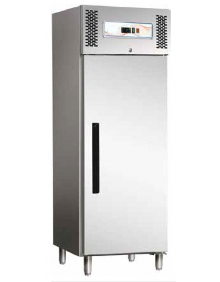 Armadio frigorifero ventilato 1 porta Lt 700 in acciaio inox AISI 430 cm  68x84,5x200h