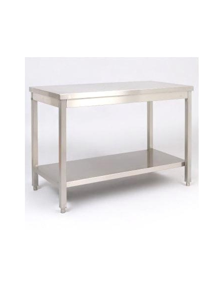 Tavolo in acciaio inox con ripiano dimensioni con ripiano di fondo piano di - Tavolo acciaio inox usato ...