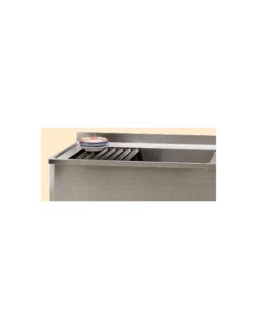 Lavapentole inox con ripiano Dimensioni cm.100x60x85/90h