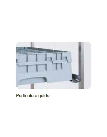 Carrello portacestelli per bicchieri nr. 7 guide cm 64x60x184h