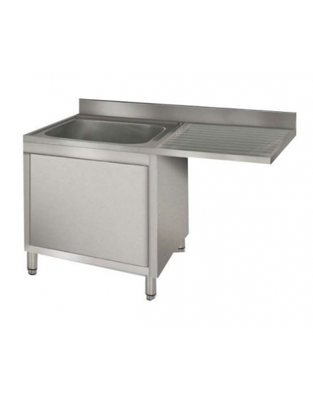 Lavello armadiato 1 vasca+gocciolatoio Dimensioni cm.120x60x85h