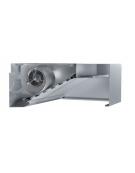 Cappa inox cubica a parete con aspiratore cm. 100x90x40h