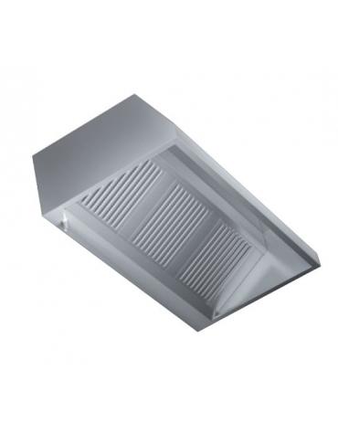Cappa a parete con aspiratore cm. 168x110x55h