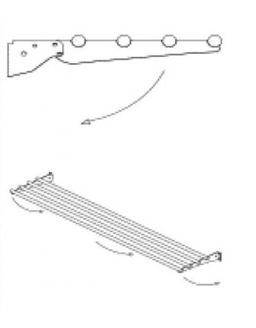 Scorrivassoio in tubolare ribaltabile da cm. 158 -Lato operatore