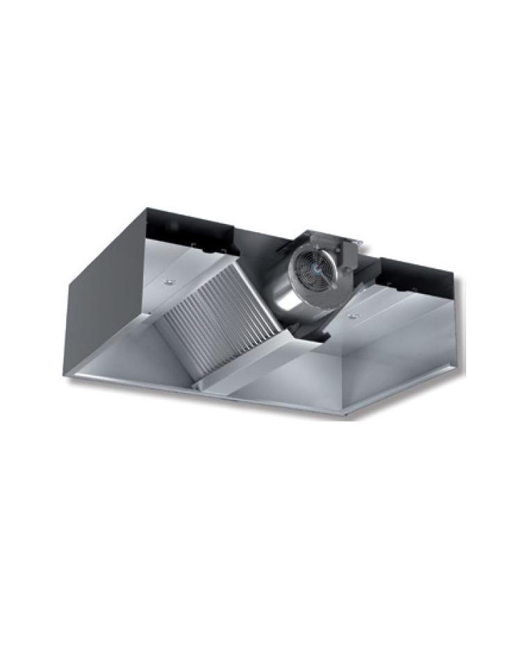 ... Cappa centrale cubika con motore per ristorante cm 150x300x45h ... 1aad181b7ce9