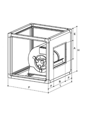 Ventilatore centrifugo cassonato a doppia aspirazione con motore direttamente accoppiato - Portata 1000 metri cubi orari