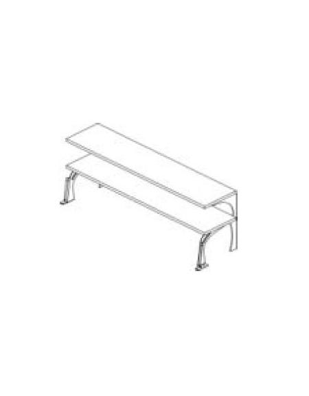 Mensole livelli inox con supporti in acciaio da cm with for Mensole acciaio ikea
