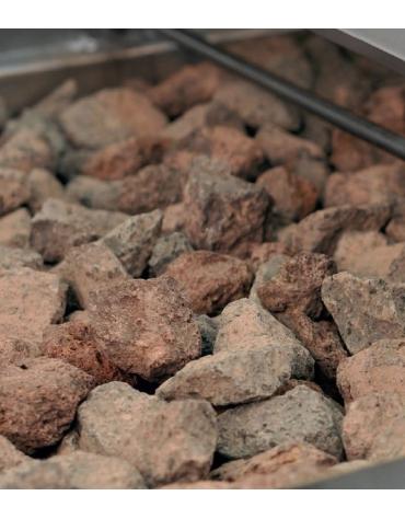 Griglia a pietra lavica a gas - Singola - Con grigliato carne