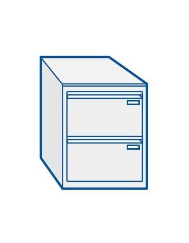 Classificatore metallico 2 cassetti per ufficio