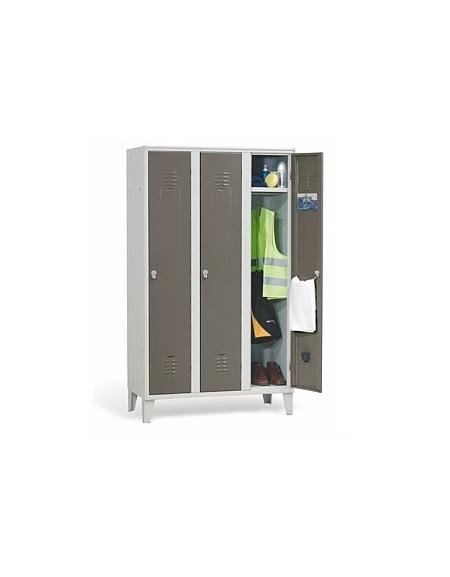 Armadio spogliatoio per dipendenti 3 posti cm 105x35x180h for Arredamento sanitario