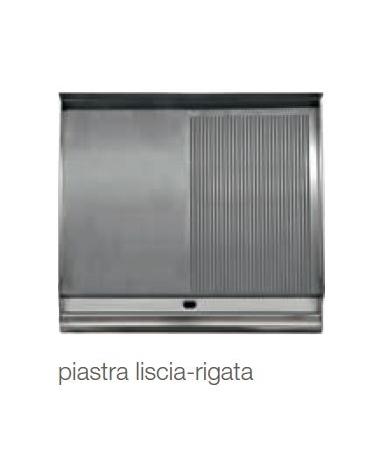FRY TOP ELETTRICO 1/2 LISCIO 1/2 RIGATO SU VANO - kW 8