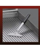Fry top a gas singolo- Piastra Liscia in acciaio cromato -  cm 40x70x85/90h