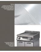 Fry top piastra liscia cromata DIMENSIONI CM.35x70x90h