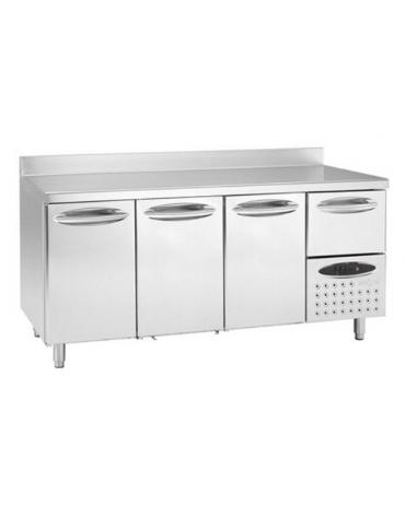 Tavolo refrigerato 3 sportelli cm 198x60x85h
