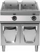Friggitrice elettrica professionale 2 vasche Lt 17+17 DIMENSIONI CM.80x73x87h