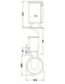 Essiccatore centrifuga per verdure da Kg 10 Cesto inox