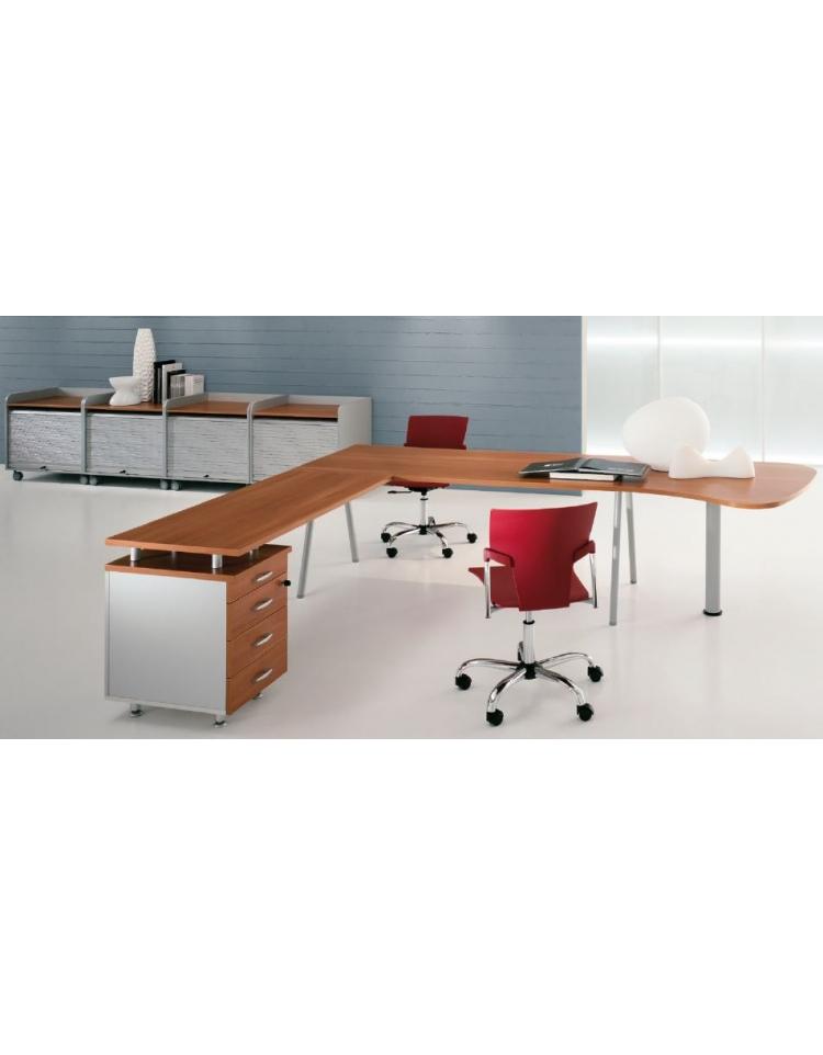 Scrivania ufficio operativa da cm 100 scrivanie mod 2 for Scrivania grande da ufficio